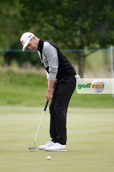 Matthias Schwab of Austria during Round 3 of the Northern Ireland Open at Galgorm Golf Club, Ballymena Co. Antrim. 11/08/2017<br /> Picture: Golffile |<br /> <br /> <br /> All photo usage must carry mandatory copyright credit (&copy; Golffile )