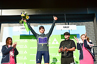 Picture by SWpix.com - 04/05/2018 - Cycling - 2018 Tour de Yorkshire - Stage 2: Barnsley to Ilkley - Yorkshire, England - One Pro Cycling's Tom Bayliss takes the Dimension Data Digital Jersey.