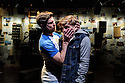 London, UK. 14.07.2016. David Adkin and New York Rep, in association with Joel Fisher, Adam Richman and The Telling Company, presents the UK premiere of STALKING THE BOGEYMAN, by Markus Potter and David Holthouse, at Southwark Playhouse. Picture shows: Mike Evans (Bogeyman), and Gerard McCarthy (David Holthouse). Photograph © Jane Hobson.