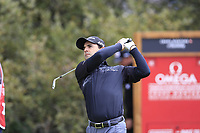 Fabrizio Zanotti (AUS) tees of the 8th tee during Sunday's Final Round of the 2017 Omega European Masters held at Golf Club Crans-Sur-Sierre, Crans Montana, Switzerland. 10th September 2017.<br /> Picture: Eoin Clarke | Golffile<br /> <br /> <br /> All photos usage must carry mandatory copyright credit (&copy; Golffile | Eoin Clarke)