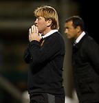 Stuart McCall says a prayer