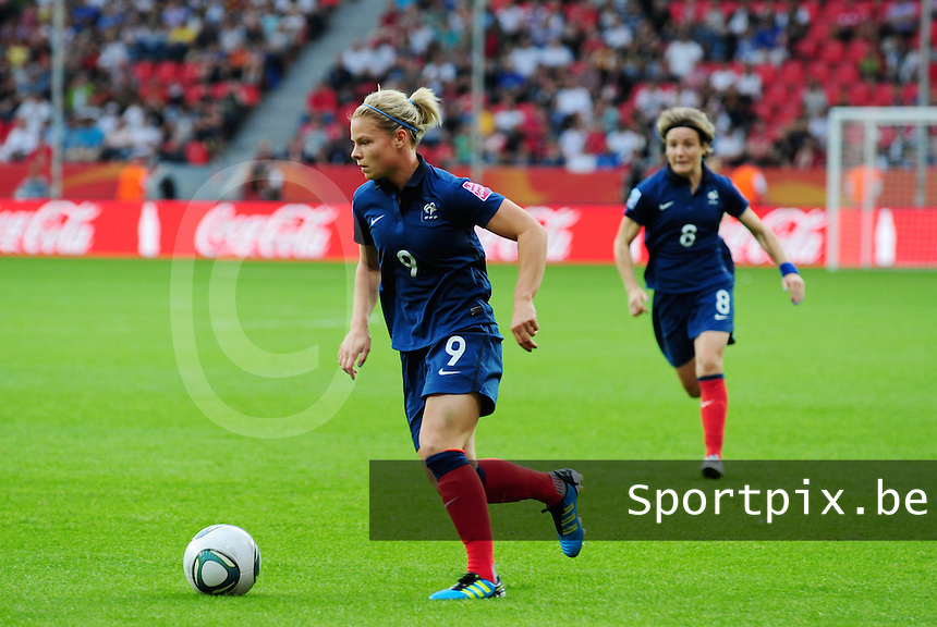 Fifa Women's World Cup Germany 2011 : England - France - at Leverkusen : Eugenie Le Sommer.foto DAVID CATRY / Vrouwenteam.be