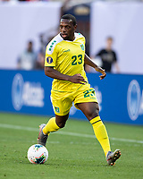 CLEVELAND, OH - JUNE 22: Anthony Jeffrey #23 during a game between Panama and Guyana at FirstEnergy Stadium on June 22, 2019 in Cleveland, Ohio.