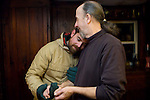"STORY SUMMARY: Since 1984, Curt Brown has been a foster parent to several adult men with autism, living with them in his home in Gardiner, Maine. He has forged a deep familial bond with many of the residents, but the commitment has also come at the expense of other goals, including personal relationships. As he turned 65, Curt confronted what lay ahead for him, as well as for the seven men living with him...Lee Calderwood, left, and Curt Brown hug in the living room of Curt's home in Gardiner, Maine. ""It's a life pretty full of love,"" says Curt. ""Who gets to say 'good night' and 'I love you' to two or three or four people every single night of the week?"""