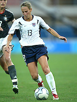 23 August 2004:  Kristine Lilly  in action against Germany during the semifinal game at Pankritio Stadium in Heraklio, Greece.     USA defeated Germany, 2-1 in overtime,  .   Credit: Michael Pimentel / ISI