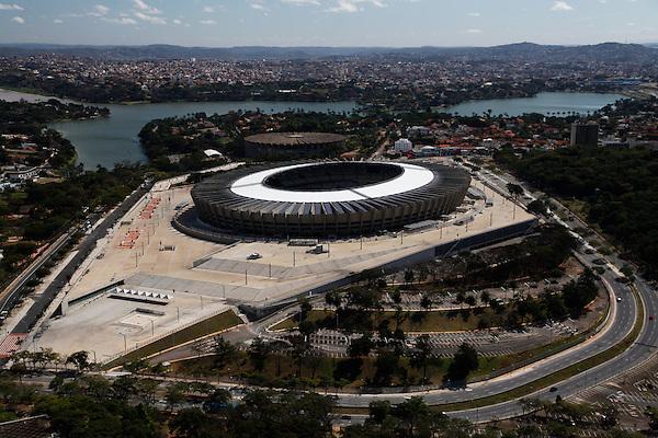 Belo Horizonte_MG, Brasil.<br /> <br /> Imagem aerea do Mineirao (Governador Magalhaes Pinto) na Pampulha.<br /> <br /> Aerial view of Mineirao (Governador Magalhaes Pinto) in Pampulha.<br /> <br /> Foto: JOAO MARCOS ROSA / NITRO