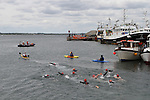 at the Green Buoy 1KM Swim in Clogherhead....(Photo credit should read Jenny Matthews/NEWSFILE)...