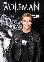 US dancer Derek Hough arrives at the US/LA premiere of 'The Wolfman' in Los Angeles, California 09 February 2010. Upon his return to his ancestral homeland, an American man (Del Toro) is bitten, and subsequently cursed by, a werewolf..Photo by Nina Prommer/Milestone Photo