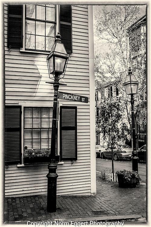 Pinckney Street on Beacon Hill in Boston, MA