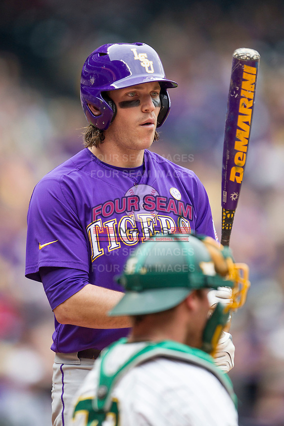 LSU Tigers third baseman Conner Hale (20) at the plate during the NCAA baseball game against the Baylor Bears on March 7, 2015 in the Houston College Classic at Minute Maid Park in Houston, Texas. LSU defeated Baylor 2-0. (Andrew Woolley/Four Seam Images)
