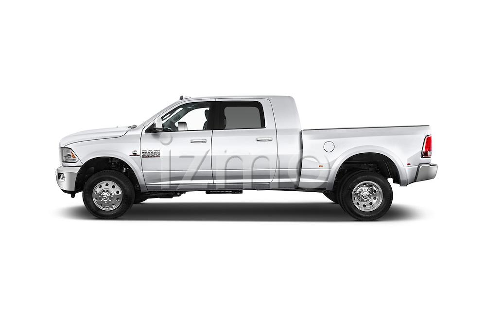 Car driver side profile view of a 2015 Ram 3500 Laramie 4 Door Van