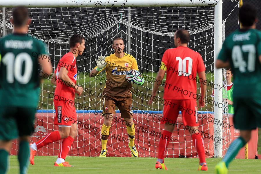 Fudbal season 2013-2014<br /> FK Crvena Zvezda pripreme<br /> Crvena Zvezda v Krka<br /> Goalkeeper Predrag Rajkovic (C)<br /> Novo Mesto, 07.12.2014.<br /> foto: Srdjan Stevanovic/Starsportphoto &copy;