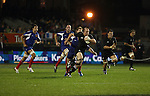 Debutant Brendon Leonard makes a break late in the game. in the first international rugby test at Eden Park, Auckland, New Zealand, Saturday, June 02, 2007. The All Blacks beat France 42-11.