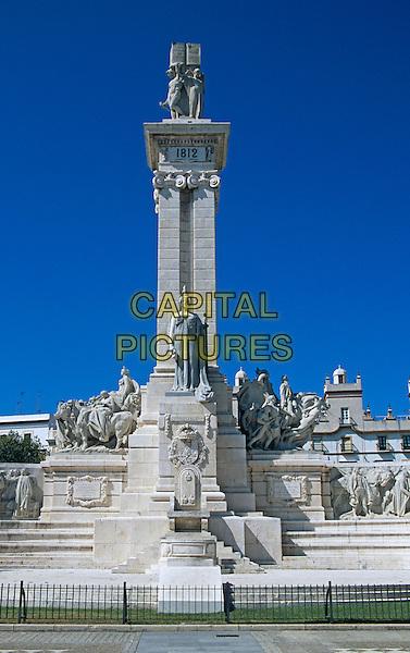 Monument dedicated to Cortes of Cadiz of 1812, Cadiz Parliament, Plaza de Espana, Cadiz, Spain