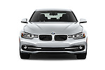 Car photography straight front view of a 2016 BMW 3 Series 328i 4 Door Sedan Front View