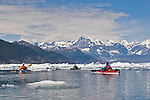 Alaska, Prince William Sound, Sea kayaker, Columbia Bay, Columbia Glacier, Icebergs, Brash Ice, USA, David Fox, Elliot Marks, Galen Tritt, released,