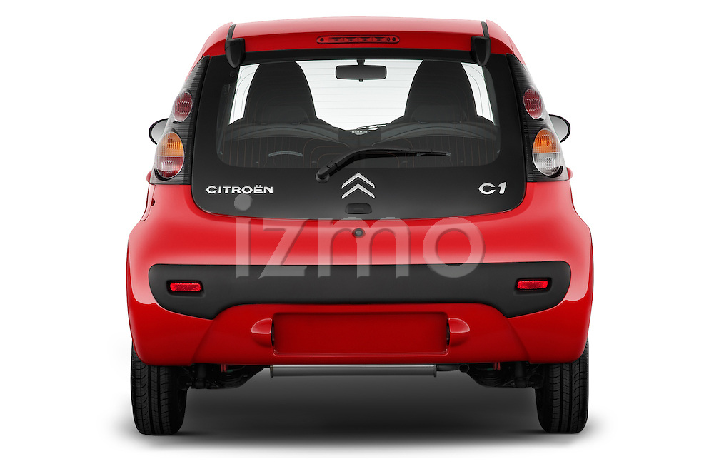 Straight rear view of a 2009 - 2012 Citroen C1 Airplay 5-Door Micro Car Hatchback