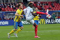 Jacob Larsson of Sweden and Tammy Abraham of England  during Sweden Under-21 vs England Under-21, UEFA European Under-21 Championship Football at The Kolporter Arena on 16th June 2017