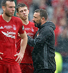 Derek McInnes embraces Ryan Jack