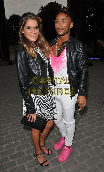LONDON, ENGLAND - JULY 23: Gemma Oaten &amp; Marcus Collins attend the RUComingOut.com summer party, Royal Vauxhall Tavern, Kennington Lane, on Thursday July 23, 2015 in London, England, UK.  <br /> CAP/CAN<br /> &copy;Can Nguyen/Capital Pictures