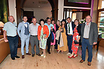 Derek Twiss and friends at the Killarney Apres Races party in The Brehon Hotel, Killarney on Thursday night.<br /> Photo: Don MacMonagle<br /> <br /> repro free photo<br /> further info: Aoife O'Donoghue aoife.odonoghue@gleneaglehotel.com
