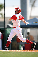 February 21, 2009:  First baseman Tim Morris (30) of St. John's University during the Big East-Big Ten Challenge at Jack Russell Stadium in Clearwater, FL.  Photo by:  Mike Janes/Four Seam Images