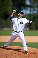 Detroit Tigers Taylor Hicks (57) during a minor league Spring Training game against the Houston Astros on March 30, 2016 at Tigertown in Lakeland, Florida.  (Mike Janes/Four Seam Images)