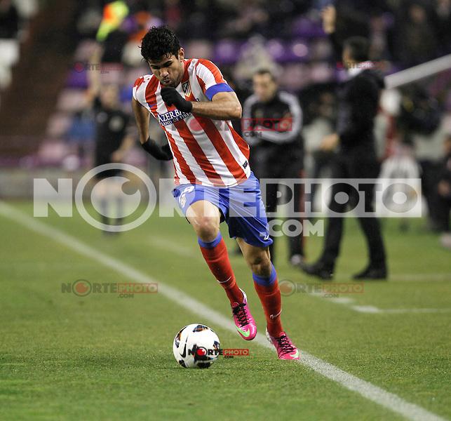 Diego Costa during Real Valladolid V Atletico de Madrid match of La Liga 2012/13. 17/02/2012. Victor Blanco/Alterphotos /NortePhoto