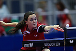 Glasgow 2014 Commonwealth Games<br /> Angahard Phillips in the doubles against Vanuatu.<br /> Scotstoun Table Tennis<br /> <br /> 25.07.14<br /> ©Steve Pope-SPORTINGWALES