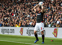 Bolton Wanderers' Andrew Taylor taking a throw-in<br /> <br /> Photographer Andrew Kearns/CameraSport<br /> <br /> The EFL Sky Bet Championship - Derby County v Bolton Wanderers - Saturday 13th April 2019 - Pride Park - Derby<br /> <br /> World Copyright &copy; 2019 CameraSport. All rights reserved. 43 Linden Ave. Countesthorpe. Leicester. England. LE8 5PG - Tel: +44 (0) 116 277 4147 - admin@camerasport.com - www.camerasport.com