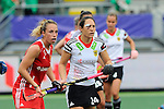 The Hague, Netherlands, June 10: Susannah Townsend #9 of England and Maike Stoeckel #24 of Germany in action during the field hockey group match (Women - Group B) between Germany and England on June 10, 2014 during the World Cup 2014 at Kyocera Stadium in The Hague, Netherlands. Final score 1-3 (0-0) (Photo by Dirk Markgraf / www.265-images.com) *** Local caption ***