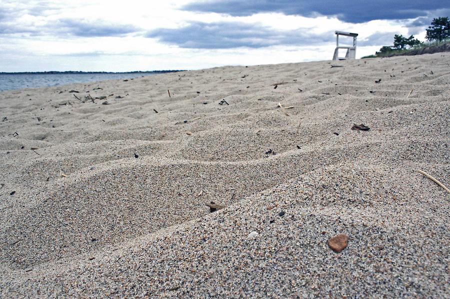Beaches and rocks along Maine's rocky coastline