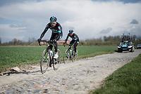 Luke Rowe (GBR/SKY) on sector 4: Carrefour de l'Arbre (2.1km)<br /> <br /> recon of the 114th Paris - Roubaix 2016