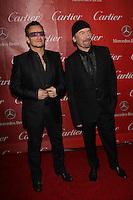 Bono, The Edge<br /> at the 25th Annual Palm Springs International Film Festival, Palm Springs Convention Center, Palm Springs, CA 01-04-14<br /> David Edwards/DailyCeleb.com 818-249-4998