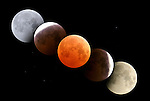 Total lunar eclipse digital composite, October 27, 2004, Alberta Canada.