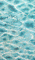 Waterweb, a hand-cut glass mosaic shown in Tanzanite, Chrysocolla, Alexandrite, Feldspar, Aquamarine, Absolute White, Opal, Moonstone, Serpentine, Turquoise, and Amazonite Sea Glass™, is part of the Broad Street™ collection.