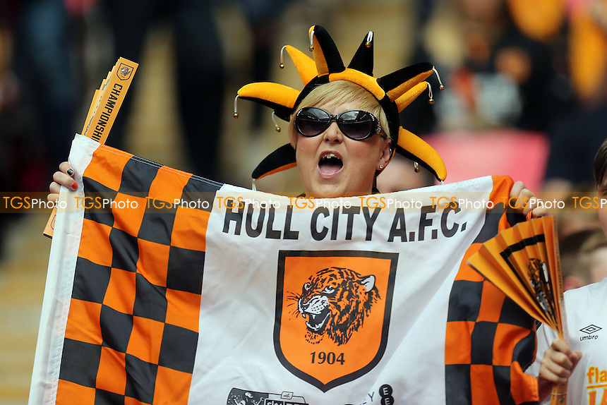 Hull city fans before Hull City vs Sheffield Wednesday, Sky Bet Championship Play-Off Final Football at Wembley Stadium on 28th May 2016