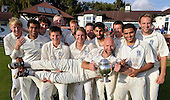 Cricket Scotland Scottish Cup Final - Watsonians CC V Heriots CC at Titwood - Glasgow - Heriots skipper Steve Knox and his side celebrate vitcory - 02.9.12 - 07702 319 738 - clanmacleod@btinternet.com - www.donald-macleod.com (see story W Dick 077707 839 23)