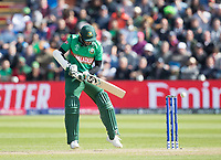 Shakib Al Hasan (Bangladesh) guides the ball to third man during England vs Bangladesh, ICC World Cup Cricket at Sophia Gardens Cardiff on 8th June 2019