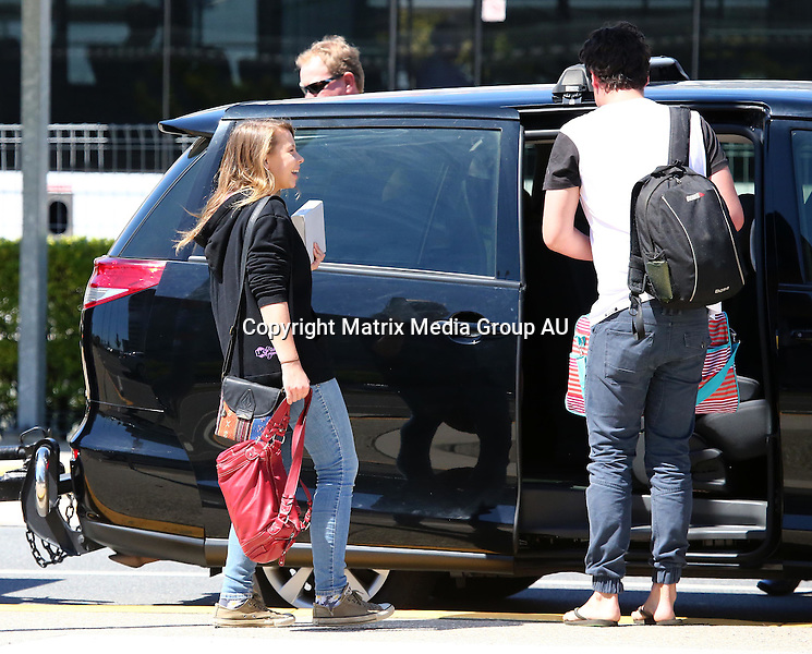6 OCTOBER 2014 CANBERRA ACT &amp; BRISBANE QLD<br /> <br /> EXCLUSIVE PICTURES<br /> <br /> The Irwin's leave Canberra and jet into Brisbane after a weekend in Canberra for the Floriade Festival.