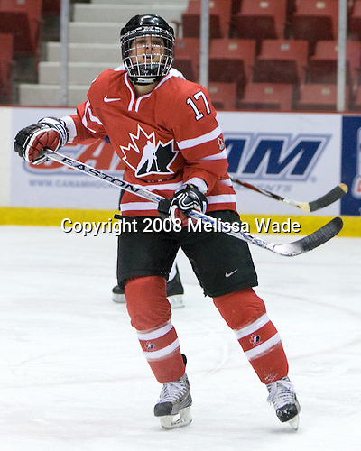Jennifer Botterill (Canada - 17) - Team USA defeated Team Canada 4-3 (so) to win the 2008 Four Nations Cup on Sunday, November 9, 2008, in the 1980 Rink in Lake Placid, New York.