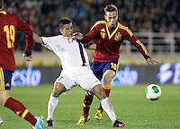 Spain's Canales and Norway's Elabdellaoui during an International sub21 match. March 21, 2013.(ALTERPHOTOS/Alconada) /NortePhoto
