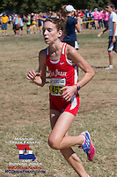 Cor Jesu Senior Jill Whitman sits in 6th at the 2-mile mark.