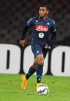 Faouzi Ghoulan  durante l'incontro  di calco d Seriden A  tra SSC Napoli e US Palermo    allo stadio San Paolo di Napoli , 24 Settembre  2014