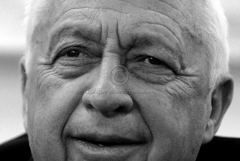 Israeli PM Ariel Sharon, Photo by Quique Kierszenbaum