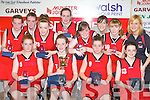 St Mary's team that won the Under 14 girls final at the Castleisland basketball blitz on Friday front row l-r: Lauren Hickey, Leanne O'Connor, Orla White and Shanua O'Connor. Back row: Andrea Murphy, Michaela Ahern, Alicia O'Sullivan, Orla O'Connor, Therese Healy, Joanne Walmsley, Katie Reidy and Joanne Downey Coach......