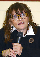 MARGOT KIDDER makes an appearance to celebrate the 70th Anniversary of Superman held at the Eastwood Expo Center, Niles, Ohio, USA, 16th November 2008. portrait headshot glasses microphone  CAP/ADM/JLN ©Jason L Nelson/Admedia/Capital Pictures