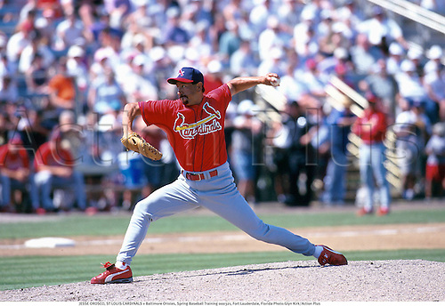 JESSE OROSCO, ST LOUIS CARDINALS v Baltimore Orioles, Spring Baseball Training 000321, Fort Lauderdale, Florida Photo:Glyn Kirk/Action Plus...Pitcher.2000