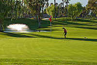 Golf Course, Woman, Golfer, Chipping to  Green, Golfing, Trees, rolling, fairways, beautiful, natural, Greens,