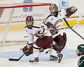 Emily Pfalzer (BC - 14), Corinne Boyles (BC - 29) - The Boston College Eagles defeated the visiting University of Vermont Catamounts 2-0 on Saturday, January 18, 2014, at Kelley Rink in Conte Forum in Chestnut Hill, Massachusetts.
